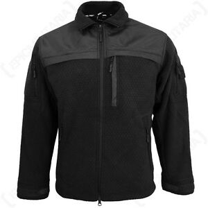 Hextac Elite Fleece Jacket - Black Coat Top Jumper New Military ...