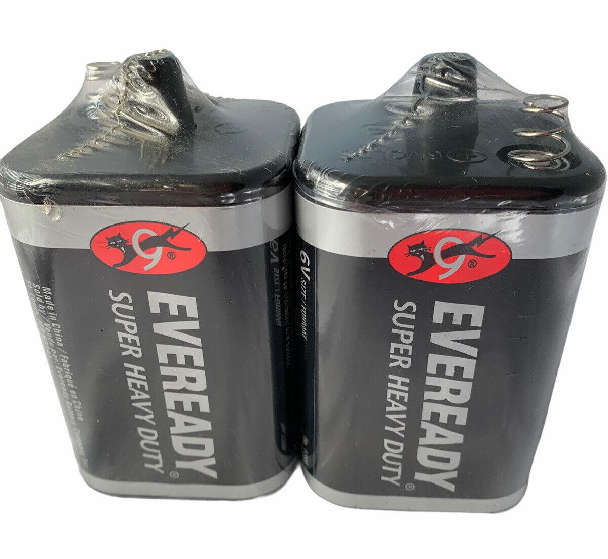 2 Eveready 1209 Zinc-Carbon Super Heavy Duty Lantern 6 Volts Batteries S8