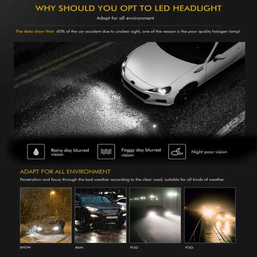 Combo 9005+9006+H11 LED Headlight Kit Hi//Lo Beam 6000K for Honda Civic Accord US