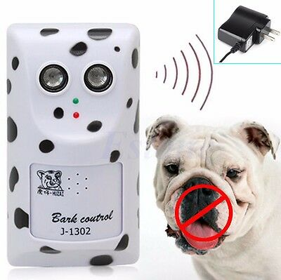 Humanely Ultrasonic Anti No Bark Device Control Stop Dog Barking Silencer Hanger