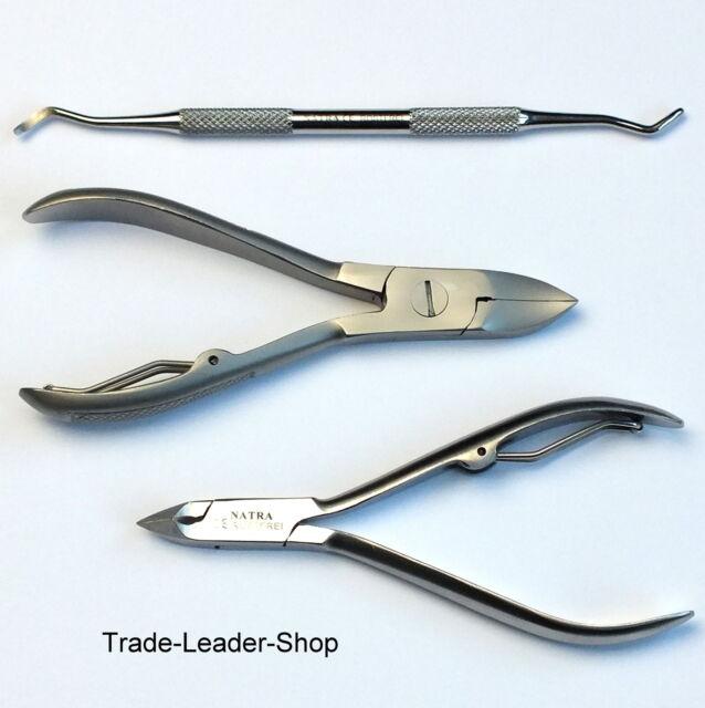 3 Pcs Pedicure Manicure Set Nail Clipper Cuticle Nipper Pliers NATRA Germany