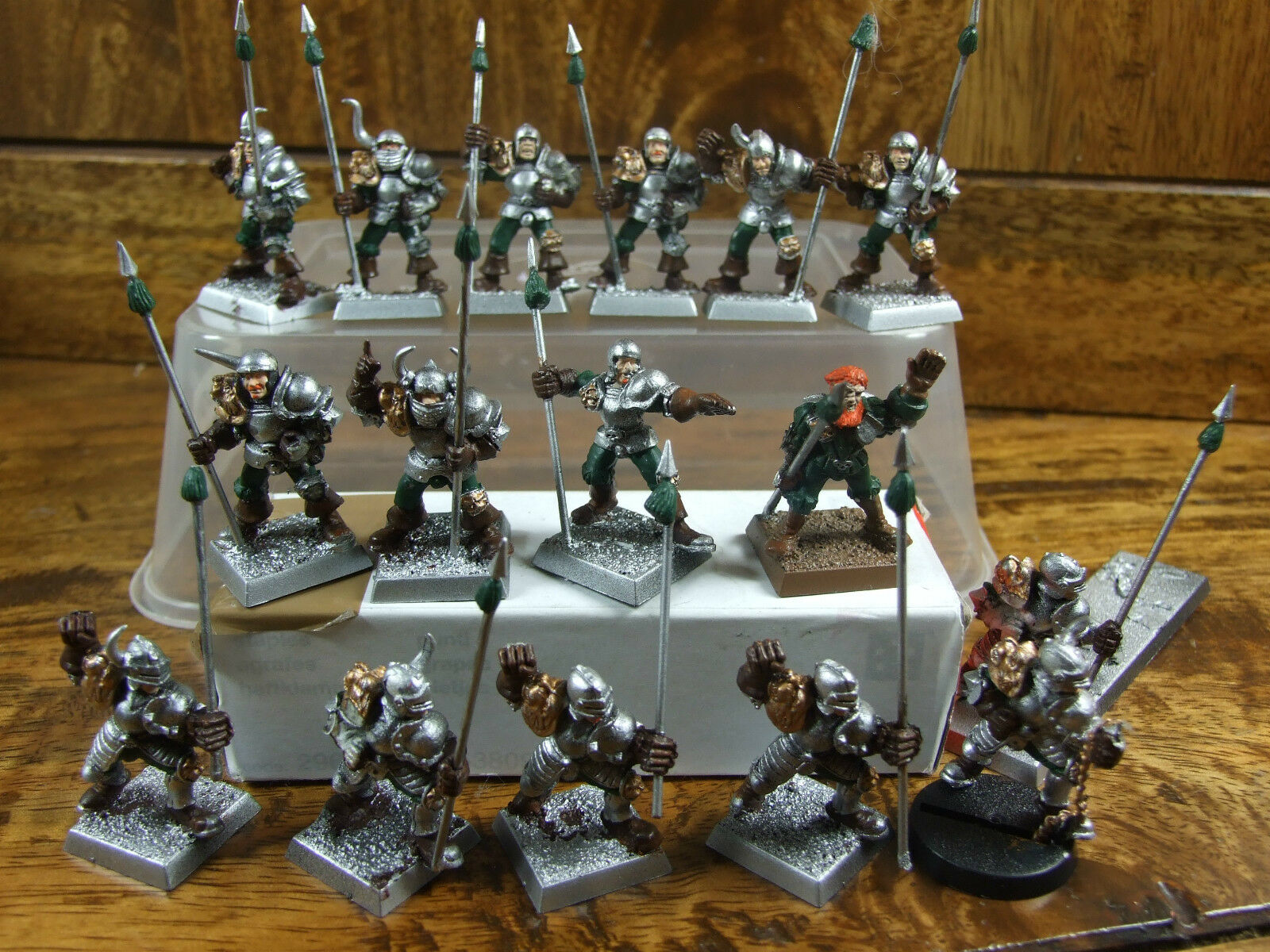 UNIQUE CONgreenED HUMAN BLOODBOWL TEAM CONgreenED INTO MERCENARIES PAINTED (995)