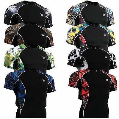 Fixgear mens womens Compression tight shirts Base layer top MMA clothing S~4XL