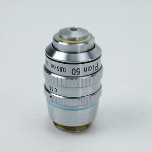 NIKON-PLAN-50-0-85-OIL-160-MICROSCOPE-OBJECTIVE-WITH-IRIS-50X