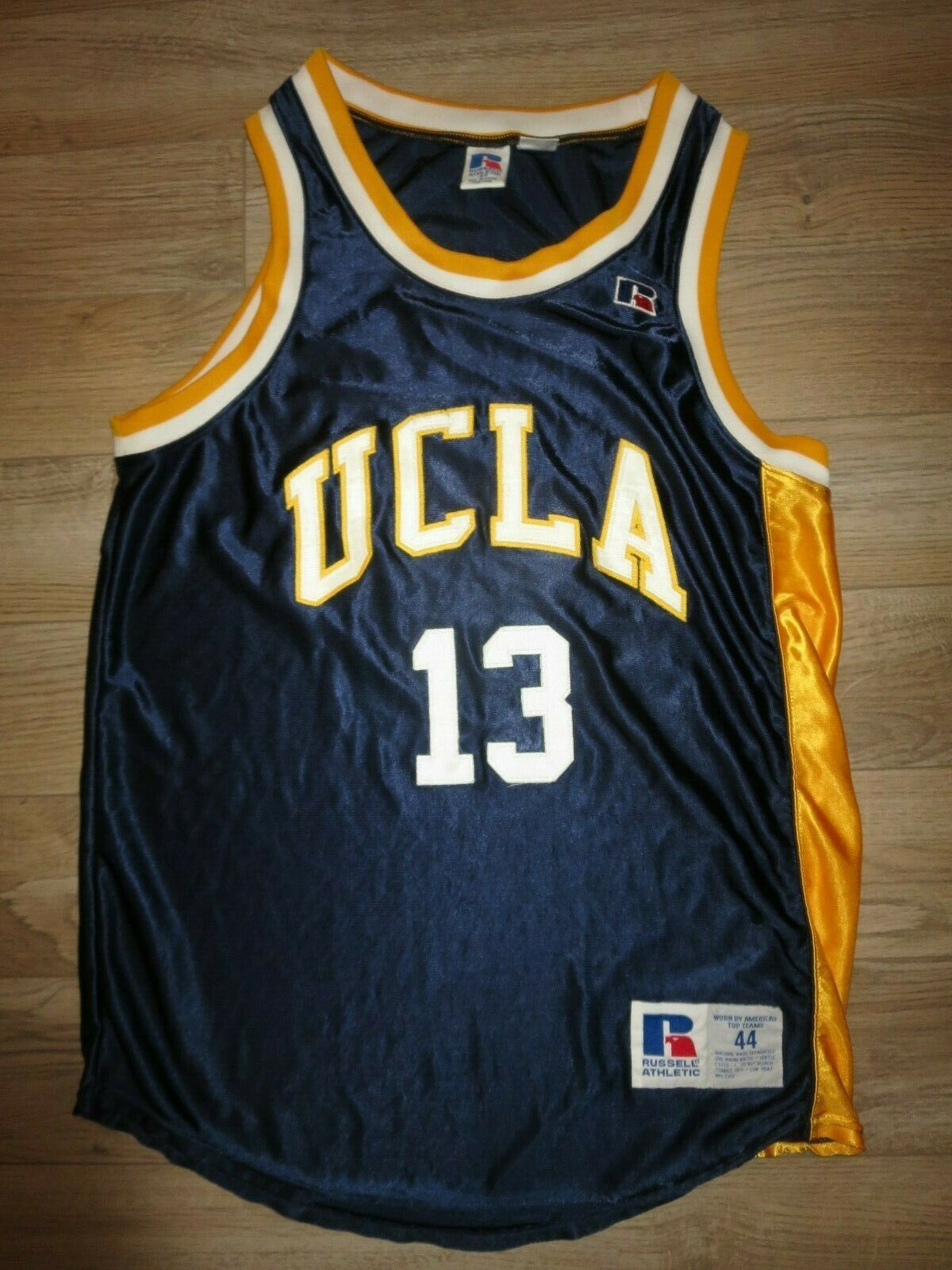 Ucla Bruins  13 Baloncesto Equipo damen Campeón Game Used Usada Camiseta 44