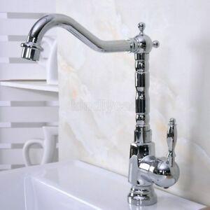 Handle Knf631 Antique Red Copper Bathroom Vessel Sink Faucet Single Hole