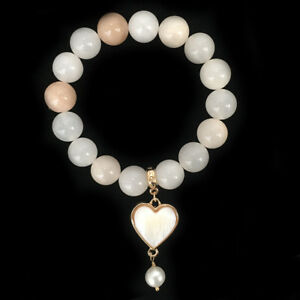 BOWERHAUS-Tangerine-Agate-Bracelet-Pearl-Charm-with-24K-Gold-Plated