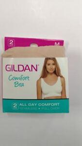 dcc5af530 Image is loading Gildan-Comfort-Bra-Medium-2-Pack-1-Nude-