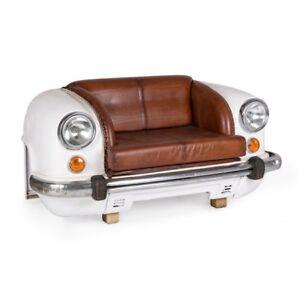 Divani In Pelle Due Posti.Divano 2 Posti Macchina Auto Design Vintage Industriale Vera Pelle