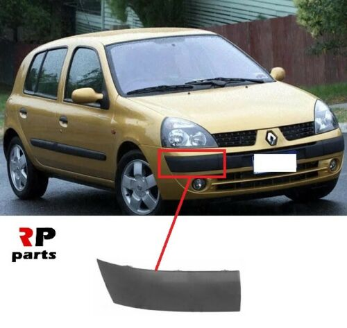 FOR RENAULT CLIO II 2001-2003 NEW FRONT BUMPER MOLDING TRIM BLACK RIGHT O//S