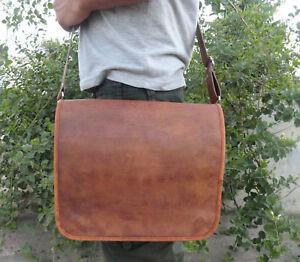 Men-039-s-Leather-Shoulder-Bag-Briefcase-Messenger-Laptop-Satchel-Genuine-Vintage