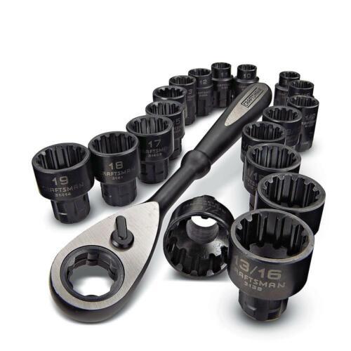 31088 Brand New Craftsman 19pc Universal Max Axess Mechanic/'s Set