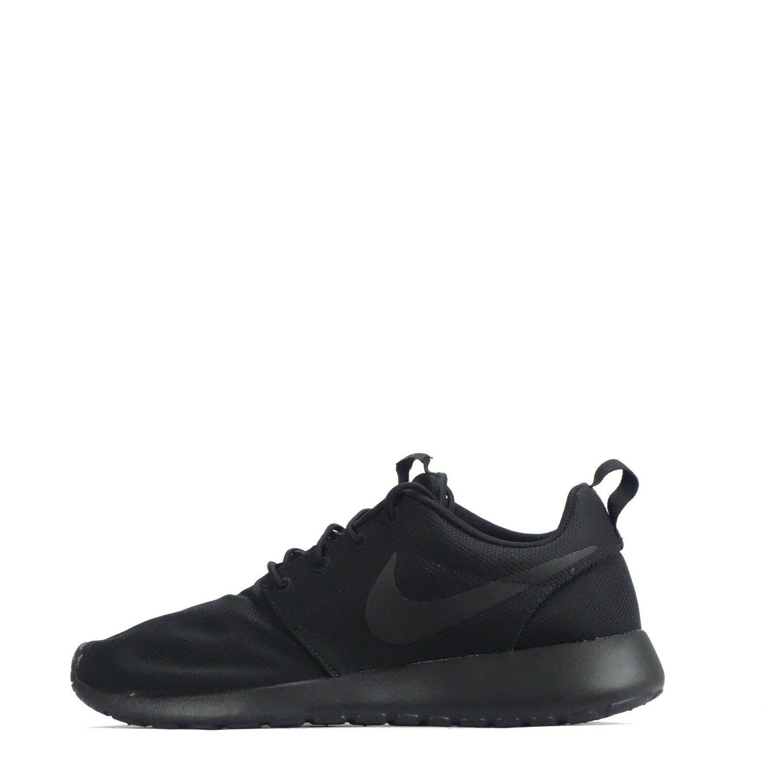 Nike Roshe Run Men's Trainers Triple Black  Odd Pair Pair Pair 5366bf