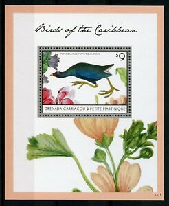 Grenadines Grenada 2013 Neuf Sans Charnière Birds Of Caribbean Poule Sultane 1 V S/s I Timbres La Qualité D'Abord