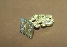 Vintage Brass Wax Stamp Seal Letter P Initial Italy
