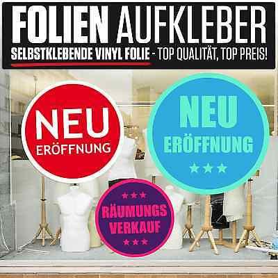 """UnermüDlich Aufkleber Folie """"neu 2-farben"""" 6 Motive Auswahl Rabatt Schaufenster Beschriftung Vertrieb Von QualitäTssicherung"""