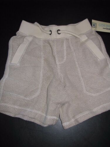 Genuine Kids Toddler Boys Size 2T Vintage Khaki Knit Elastic Waist Shorts NWT