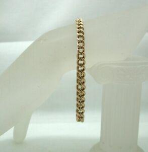 Antique-Heavy-Gents-Ladies-9-Carat-Rosie-Gold-Albert-Bracelet