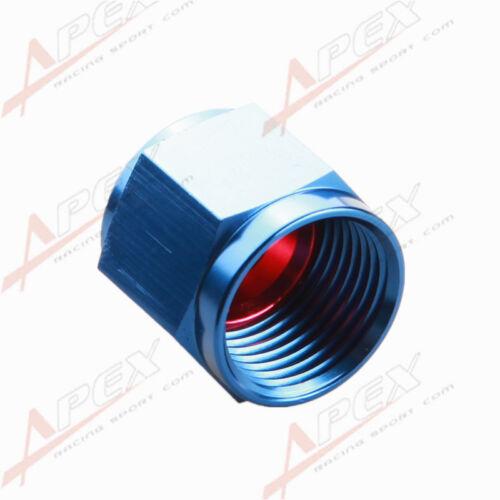 8AN 8AN AN8 Flare Cap Caps Block Off Fitting Aluminum Red//Blue