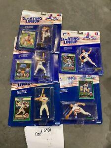 (5) 1989 Starting Lineup SLU MLB Strawberry, Elster, Myers, David Cone Mets