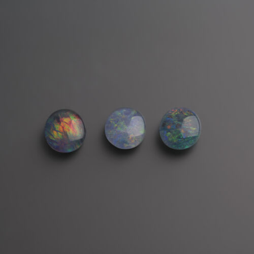 sehr schöne Opal Triplette aus Australien 12 x 10 mm Oval Cabochon