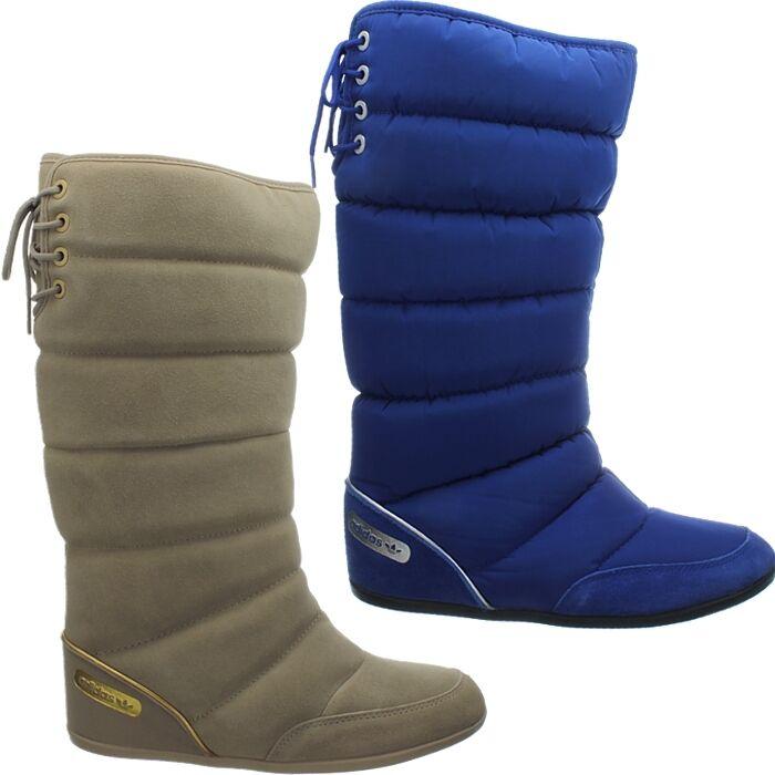 Adidas Damen Wildleder Winterstiefel beige blau Northern Boot W Schnee Fell