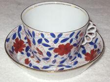 Antique/Vintage Imari Decorative China Teacup & Saucer Royal Vienna/Austrian #2