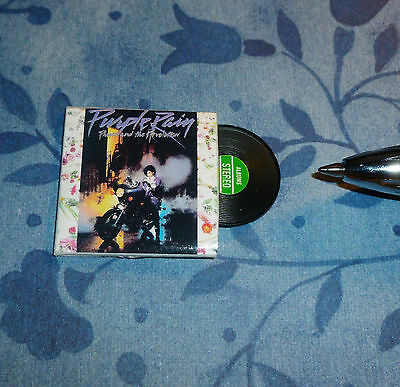 Dollhouse Miniature RECORD ALBUM Wow! With a Plastic Record! 1:12 scale
