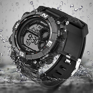 SANDA-Waterproof-Date-Week-Silicone-Digital-Analog-Alarm-Mens-Sport-Wrist-Watch