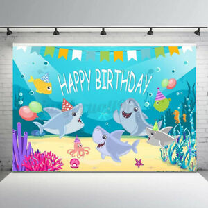 Backdrop Happy Birthday Photo Photography Background Props Baby Shower Decor