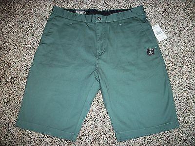 VOLCOM New NWT Mens Casual Walk Chino Shorts Green Solid 31 32 33 36 38 40