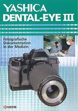 Prospekt Yashica dental Eye III cámara cámara folleto 1998 brochure folleto