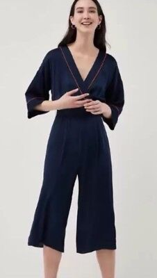 great discount sale hot product official NEXT SIZE 12 WIDE LEG NAVY BLUE SATIN FEEL CULOTTES PLAYSUIT / JUMPSUIT  BNWT | eBay