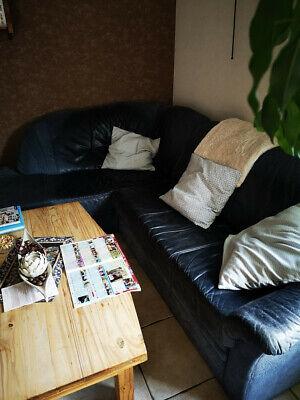 Zu verschenken.......Couchgarnitur Leder gebraucht | eBay