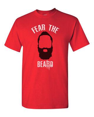 James Harden T-Shirt Fear The Beard Houston Rockets Tee Shirt Short Sleeve S-5XL