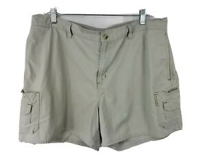 Columbia-Womens-Cargo-Shorts-100-Cotton-Active-Hiking-Outdoors-Khaki-Color-XL