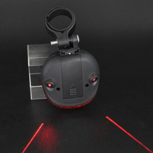 Bicycle Red 2Laser Beam 5 LED Cycling Rear Tail Warning Lamp Light Mount Holder
