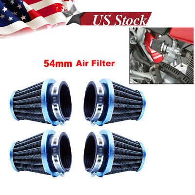4x 54mm Air Filter Pod For Honda CB1000C 1983 CB750K 79-82 CB900F 81-82 CB900C