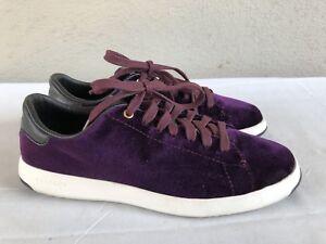 e29b26b02bbf EUC  130 Cole Haan US 6B Grandpro Tennis Malbec Velvet Shoes ...