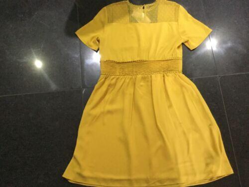 Dress Short Yellow 8 Ladies Uk Sleeved 10 Fa477dr Nwt Mustard Small Foxiedox wfq6xRSTv