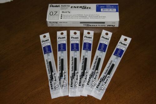 6 X  packs Pentel Energel Pen Gel Ink Refill 0.7mm BLUE Made in japan