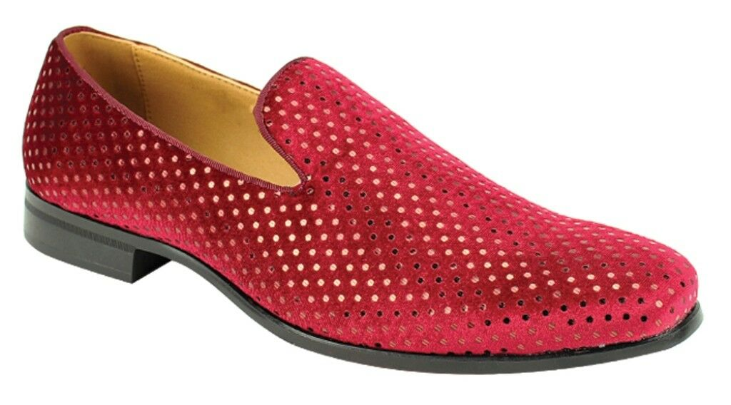 Men's Fancy Dress Casual shoes Burgundy Slip On Loafers AFTER MIDNIGHT 5842  8