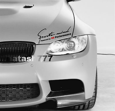 Fits: BMW RACING EDITION Window Decal sticker Performance Sport Car RED Pair