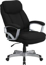 Big Amp Tall 500 Lbs Capacity Black Fabric Executive Office Chair Extra Wide Seat