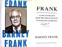 Barney Frankfranksigned & Dated1st/1st Hc + Photos Rare