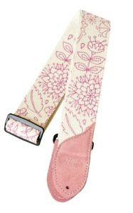 Confiant Daisy Rock Rose & Blanc Floral Réglable Sangle De Guitare-drs07-afficher Le Titre D'origine