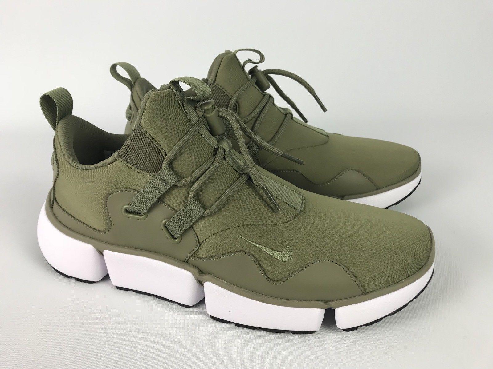 Nike Pocketknife DM Trooper Green White Men's Running shoes 898033 200 Size 12.5