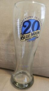 Blue-Moon-Brewing-Co-Pilsner-Beer-Glass-034-Celebrating-20-Years-034-16-oz