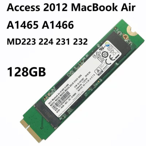 """128GB SSD RE THNSNS128GMFP For Apple MacBook Air 11/"""" A1465 13"""" A1466 Mid 2012"""