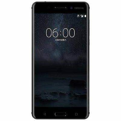 "New Imported Nokia 6 Duos Dual 64GB 4GB 5.5"" 16MP 8MP Black Color-Android Nougat"